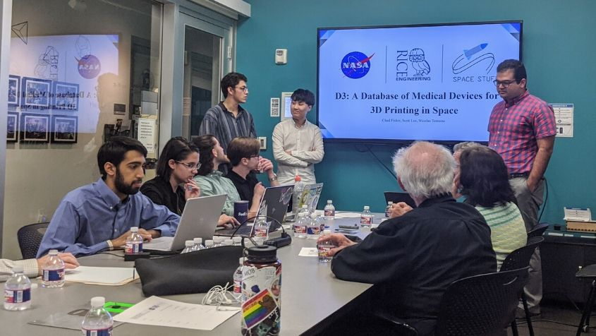 NASA engineers visit Rice for a special senior design review